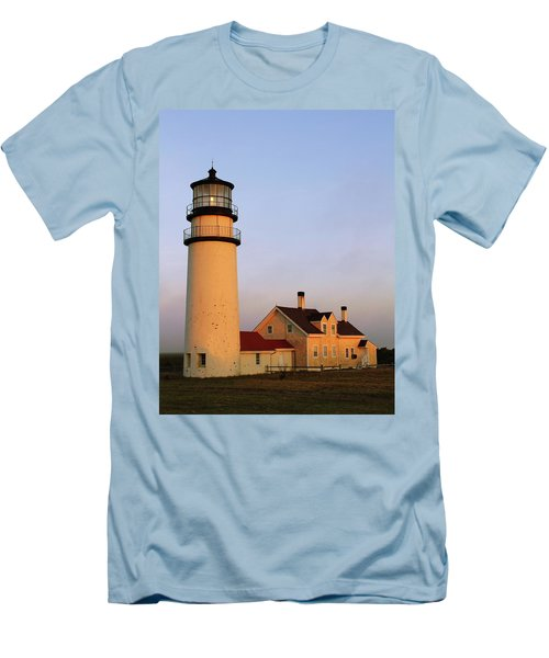 Men's T-Shirt (Slim Fit) featuring the photograph Higland Lighthouse Cape Cod by Roupen  Baker
