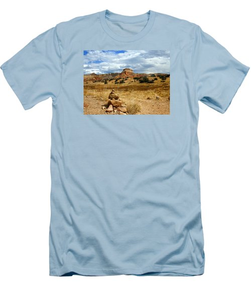 Men's T-Shirt (Slim Fit) featuring the photograph Hiking Ghost Ranch New Mexico by Kurt Van Wagner
