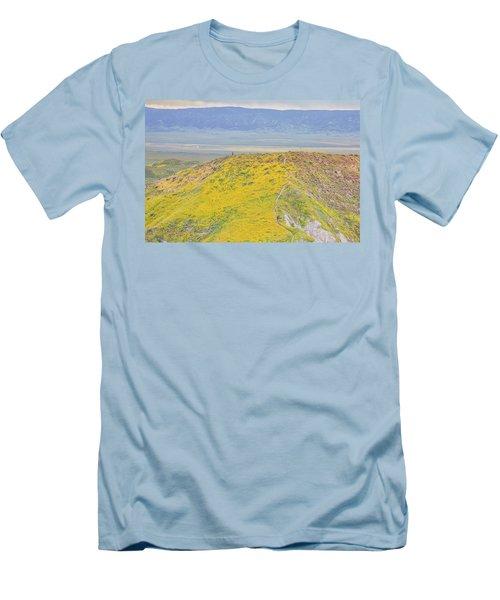 Hiking The Temblor Men's T-Shirt (Athletic Fit)