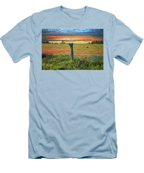 Hill Country Heaven Men's T-Shirt (Slim Fit) by Lynn Bauer