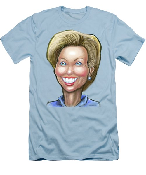 Hillary Clinton Caricature Men's T-Shirt (Slim Fit) by Kevin Middleton
