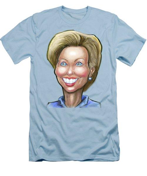 Hillary Clinton Caricature Men's T-Shirt (Athletic Fit)