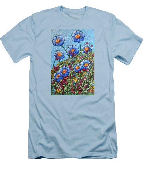 Hillside Blues Men's T-Shirt (Slim Fit) by Holly Carmichael