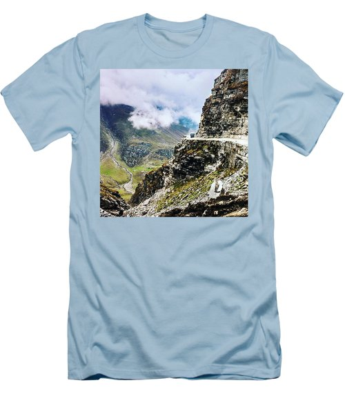 Himalayan Roads Are Good For Your Men's T-Shirt (Slim Fit)
