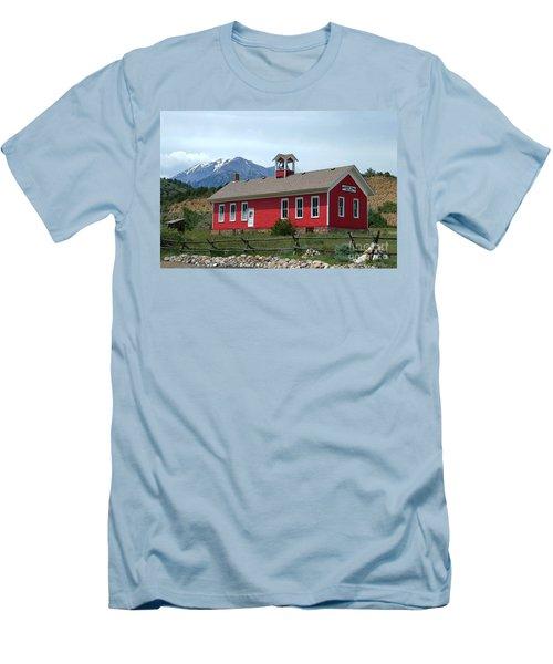 Historic Maysville School In Colorado Men's T-Shirt (Slim Fit) by Catherine Sherman