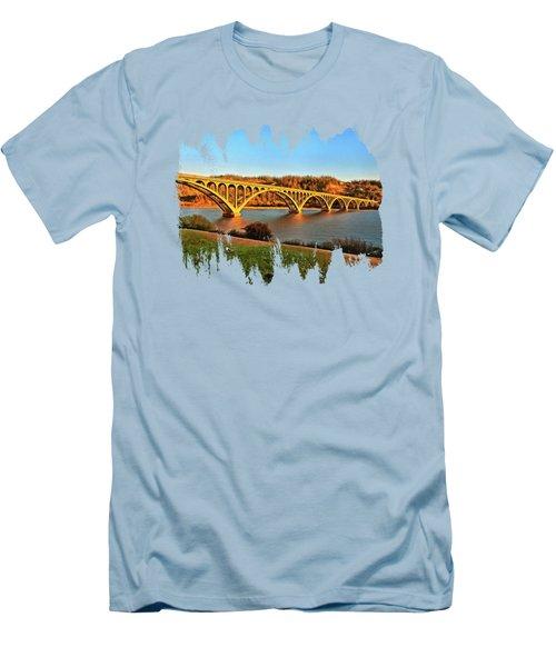 Historic Patterson Bridge Gold Beach Men's T-Shirt (Slim Fit) by Thom Zehrfeld