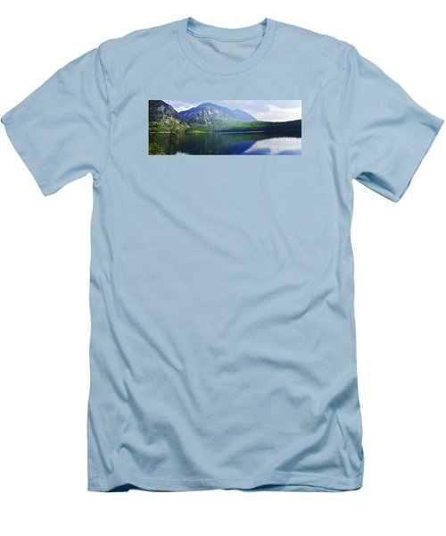 Men's T-Shirt (Slim Fit) featuring the photograph Holland Lake Panoramic View by Janie Johnson