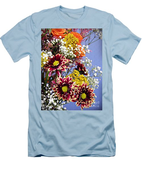 Men's T-Shirt (Slim Fit) featuring the photograph Holy Week Flowers 2017 4 by Sarah Loft