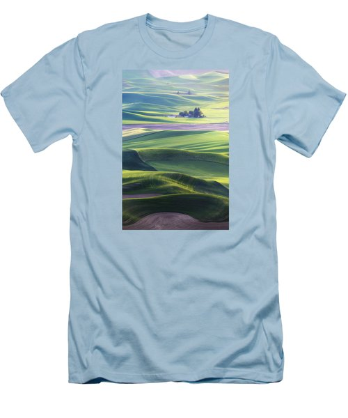 Homestead In The Hills Men's T-Shirt (Slim Fit) by Ryan Manuel
