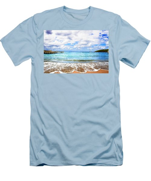 Honduras Beach Men's T-Shirt (Slim Fit) by Marlo Horne