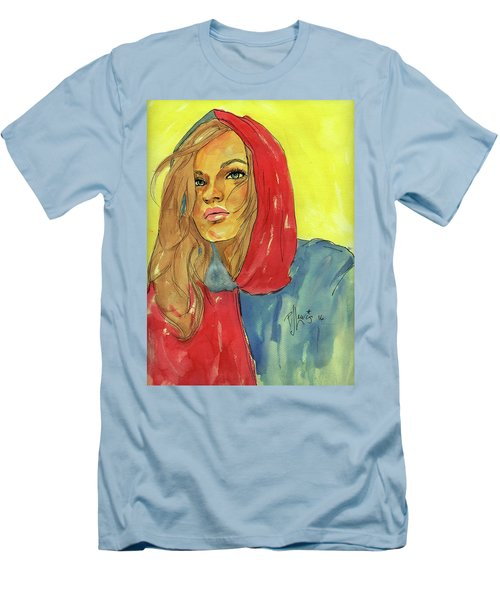 Men's T-Shirt (Slim Fit) featuring the painting Hoody by P J Lewis