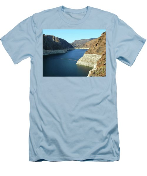 Men's T-Shirt (Slim Fit) featuring the photograph Hoover Dam In May by Emmy Marie Vickers