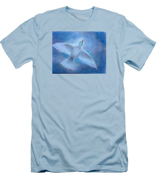 Men's T-Shirt (Slim Fit) featuring the painting Hope And Peace by Laila Awad Jamaleldin