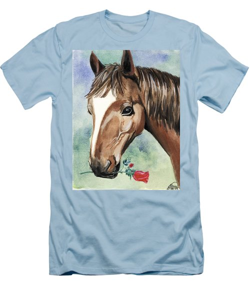 Horse In Love Men's T-Shirt (Athletic Fit)
