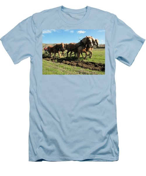 Men's T-Shirt (Slim Fit) featuring the photograph Horse Power by Jeff Swan