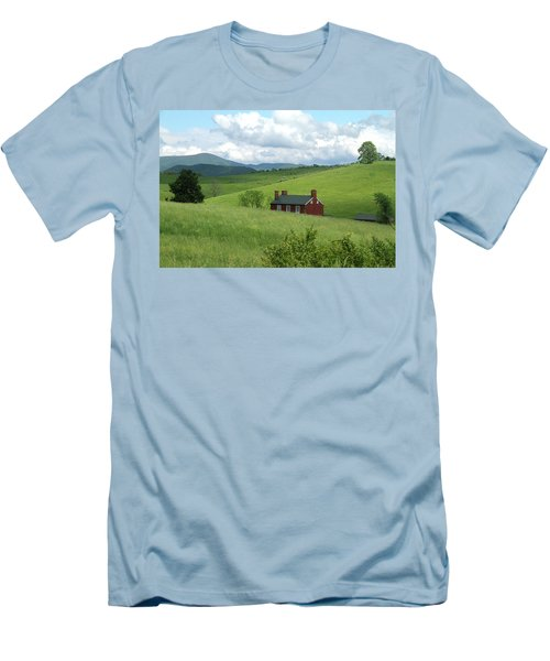Men's T-Shirt (Slim Fit) featuring the photograph House In The Hills by Emanuel Tanjala
