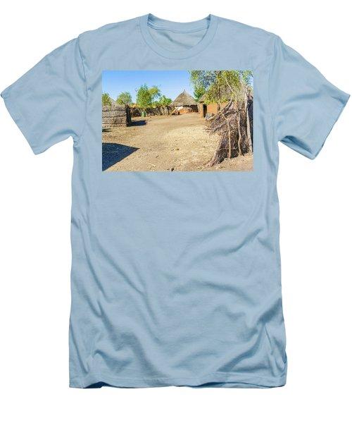 Houses In Rashid,  Sudan Men's T-Shirt (Slim Fit) by Marek Poplawski