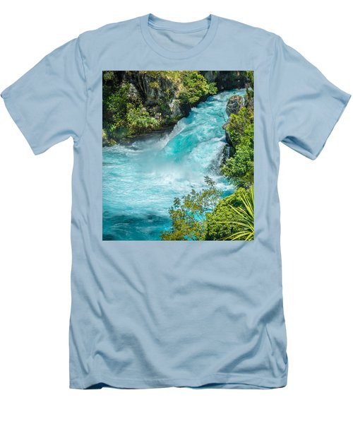 Huka Falls Men's T-Shirt (Slim Fit) by Racheal Christian