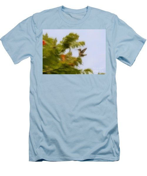 Men's T-Shirt (Slim Fit) featuring the photograph Humbird by Robert Pearson