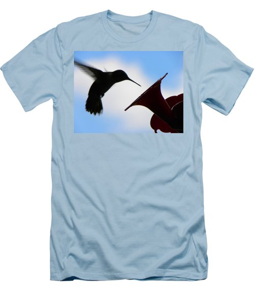 Men's T-Shirt (Slim Fit) featuring the photograph Hummingbird Silhouette by Sandi OReilly