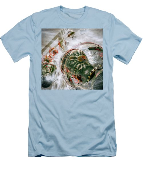 Men's T-Shirt (Slim Fit) featuring the photograph Hung Up And Strung Out by Wayne Sherriff