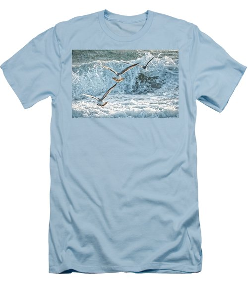 Men's T-Shirt (Slim Fit) featuring the photograph Hunting The Waves by Don Durfee