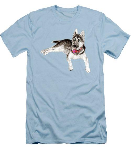 Husky Puppy Bella Men's T-Shirt (Slim Fit) by Jack Pumphrey