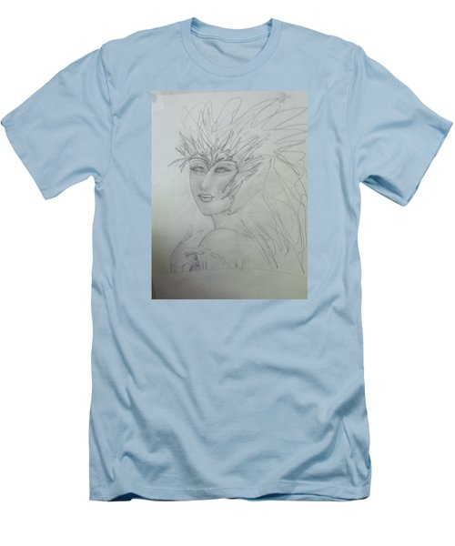 Men's T-Shirt (Slim Fit) featuring the drawing I Am The Phoenix by Sharyn Winters