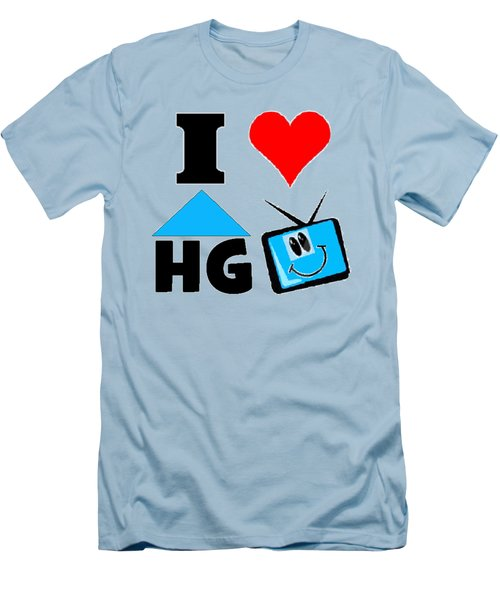 Men's T-Shirt (Slim Fit) featuring the drawing I Love Hgtv T-shirt by Kathy Kelly