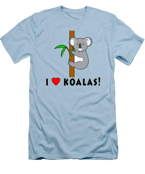 I Love Koalas Men's T-Shirt (Slim Fit) by A