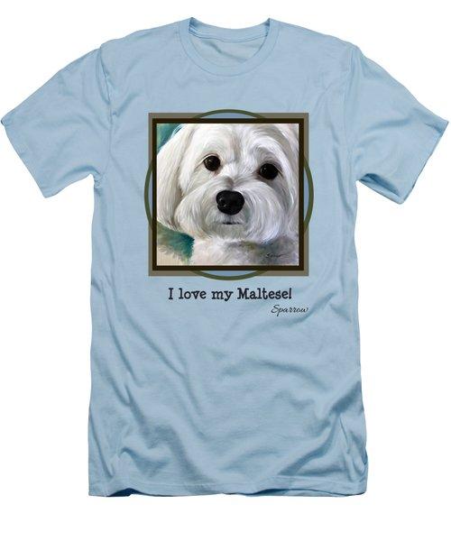 I Love My Maltese Men's T-Shirt (Athletic Fit)