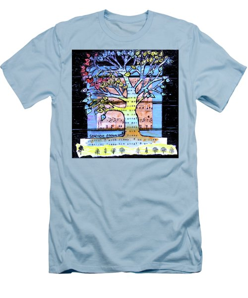 Men's T-Shirt (Slim Fit) featuring the painting I Love Trees by Genevieve Esson