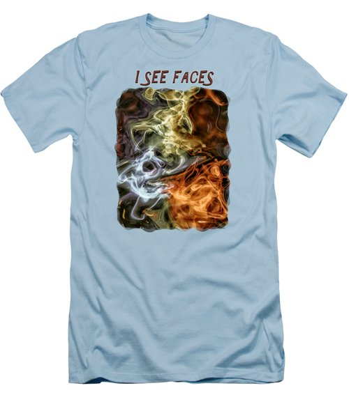 I See Faces Men's T-Shirt (Athletic Fit)