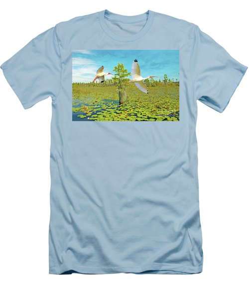 Ibis At Okefenokee Men's T-Shirt (Athletic Fit)