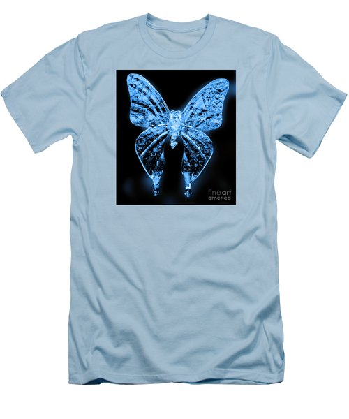 Ice Wing Butterfly Men's T-Shirt (Slim Fit) by Cassandra Buckley