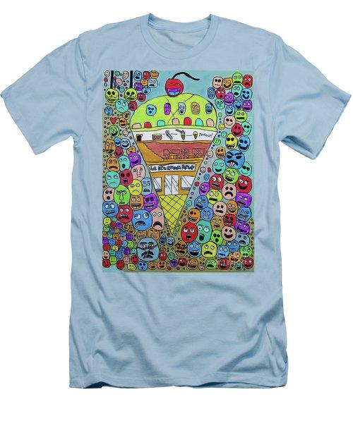 Icecream Parlor Men's T-Shirt (Athletic Fit)