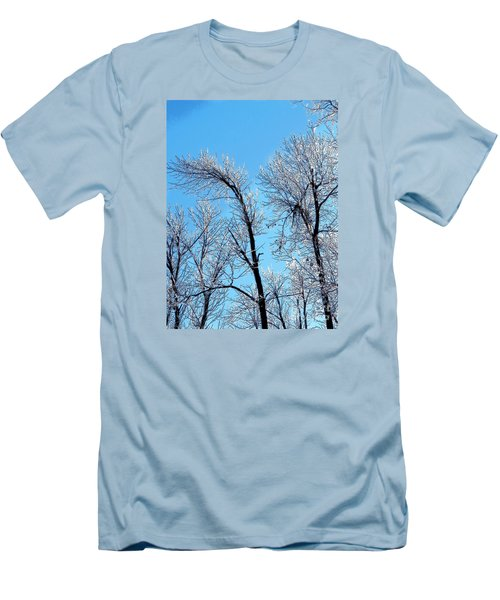 Iced Trees Men's T-Shirt (Slim Fit) by Craig Walters