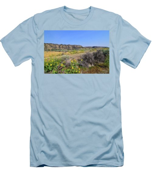 Men's T-Shirt (Slim Fit) featuring the photograph Idaho Landscape by Bonnie Bruno