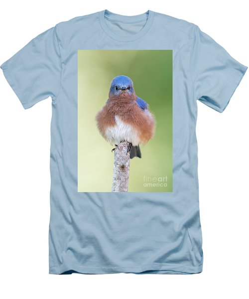 Men's T-Shirt (Slim Fit) featuring the photograph I May Be Fluffy But I'm No Powder Puff by Bonnie Barry