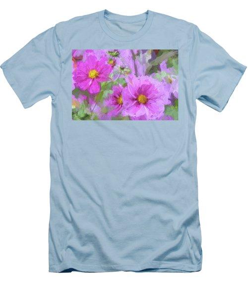 Impasto Cosmos Men's T-Shirt (Slim Fit) by Bonnie Bruno