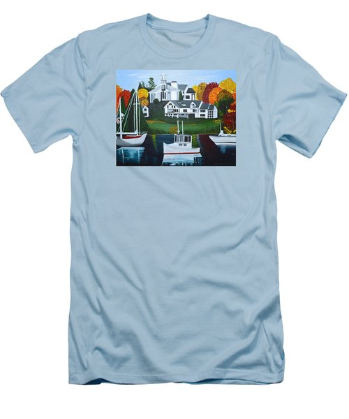 Impressions Of New England Two Men's T-Shirt (Slim Fit) by Donna Blossom