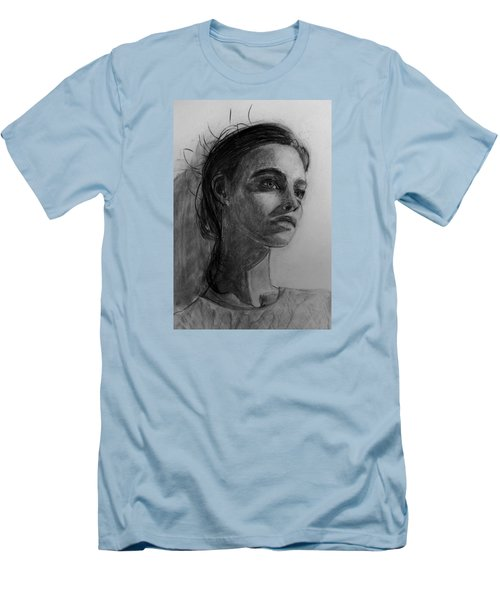 Men's T-Shirt (Slim Fit) featuring the painting In This Silence I Believe by Jarko Aka Lui Grande