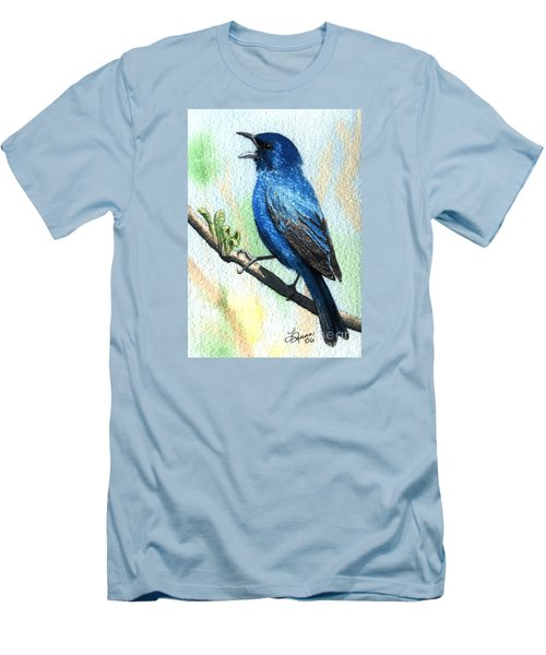 Indigo Bunting Men's T-Shirt (Athletic Fit)