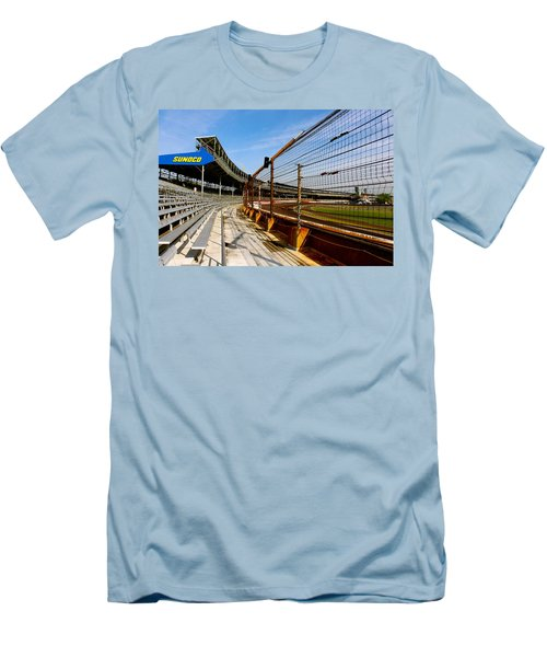 Indy  Indianapolis Motor Speedway Men's T-Shirt (Slim Fit) by Iconic Images Art Gallery David Pucciarelli