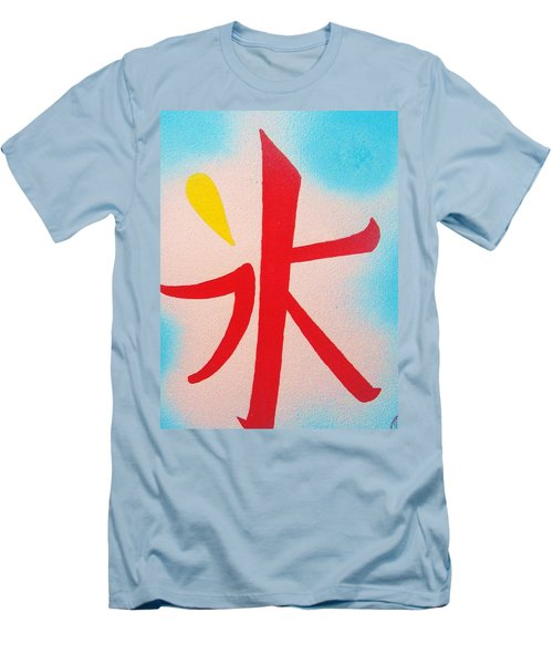 Men's T-Shirt (Slim Fit) featuring the painting Inochi No Mizu No Himitsu by Roberto Prusso