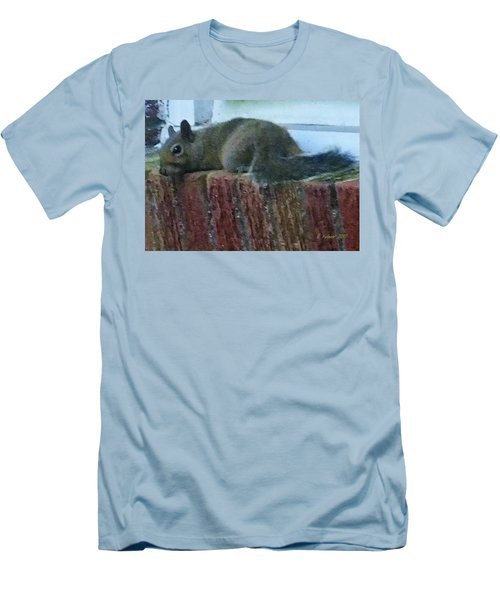 Men's T-Shirt (Athletic Fit) featuring the photograph Inquisitor Visitor by Denise Fulmer