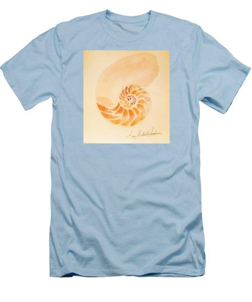 Inside Of A Nautilus Men's T-Shirt (Slim Fit) by Ann Michelle Swadener