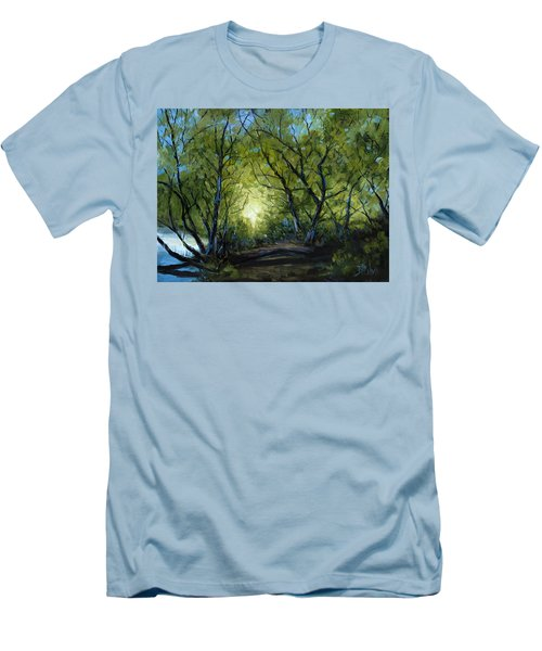 Men's T-Shirt (Slim Fit) featuring the painting Into The Light by Billie Colson