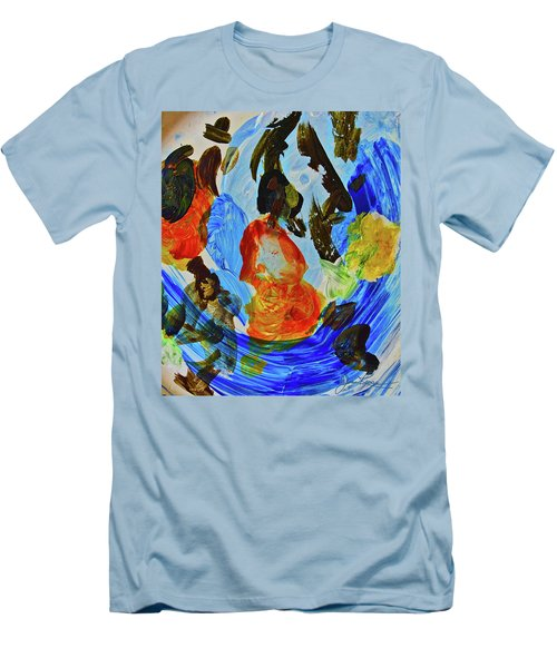 Men's T-Shirt (Athletic Fit) featuring the painting Intuitive Painting  215 by Joan Reese