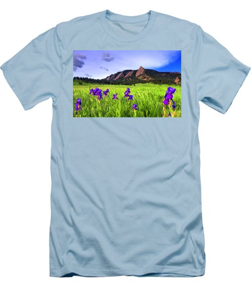 Iris And Flatirons Men's T-Shirt (Athletic Fit)